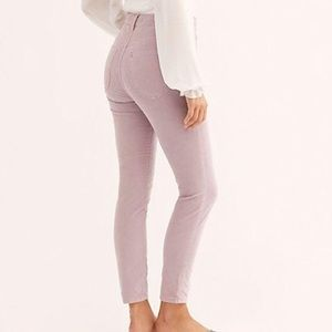 FREE PEOPLE SUN CHASER CORDUROY SKINNY PANTS